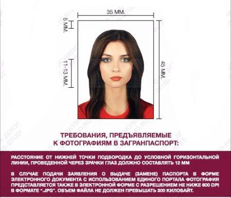 требования на фото загранпаспорт нового образца
