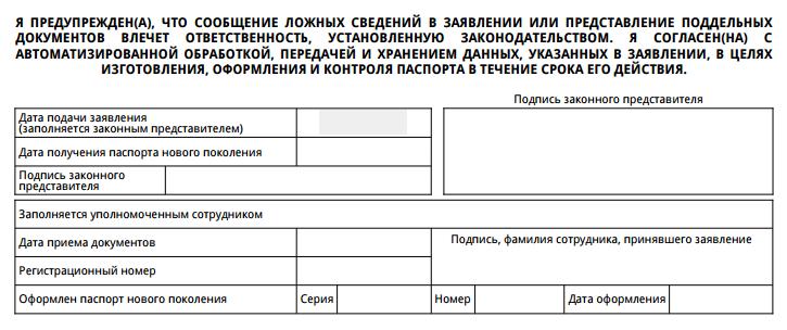 подпись в анкете