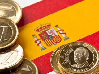 Флаг Испании и евро