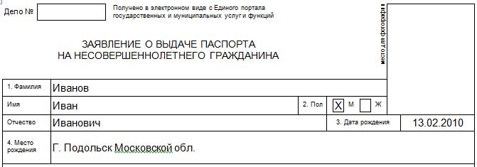1-4 пункты в анкете