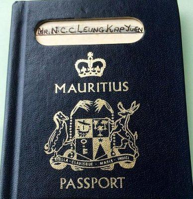 Паспорт гражданина Маврикия