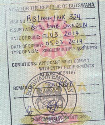 виза в Ботсвану