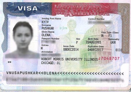 студенческая виза в США категории F1