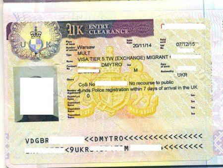 виза в Великобританию категории TIER 5