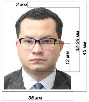 Образец фото для получения визы
