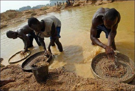 Добыча алмазов в Африке
