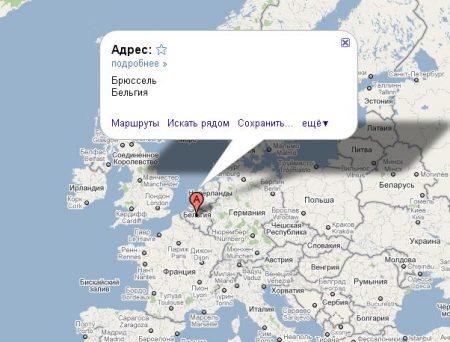 Бельгия на карте Европы
