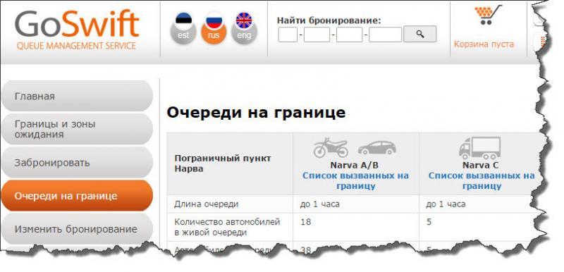 онлайн электронная очередь на выезд из эстонии характеристики интернет-магазине