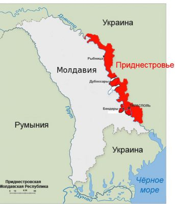 Приднестровье на карте