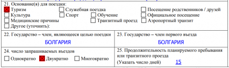 21-25 пункты анкеты