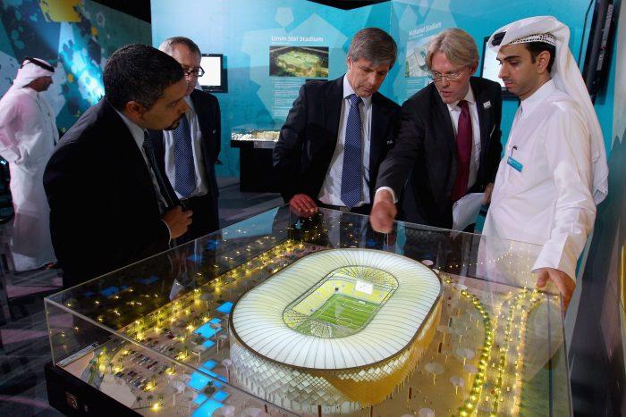 Макет стадиона в Катаре