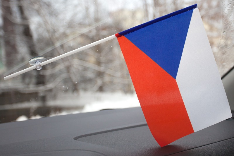 Флажок Чехии