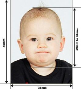 Вот таким должно быть фото на визу для ребенка