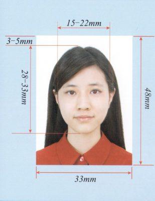Таким должно быть фото на визу в Китай