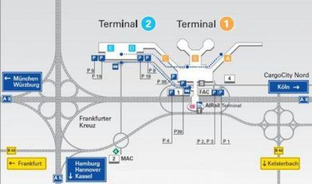 Схема аэропорта Франкфурта