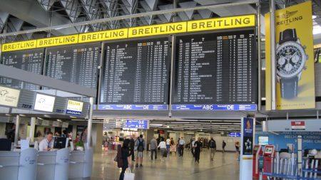 Табло в аэропорте Франкфурта