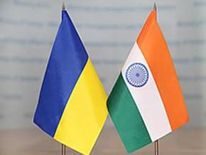 Флаги Украины и Индии