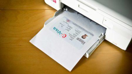печать электронной визы в Индию