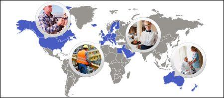 Работа в разных странах