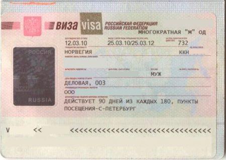 Многократная визы в Россию