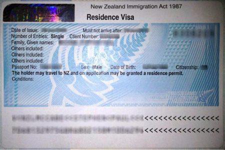 резидентская виза в Новой Зеландии