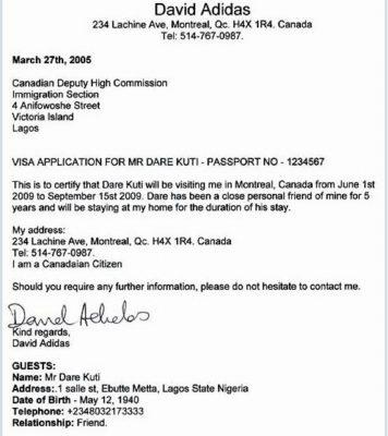 Пригласительное письмо для визы в Канаду