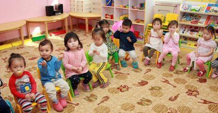 Детский сад в Монголии