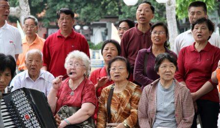 Пожилые люди в Китае