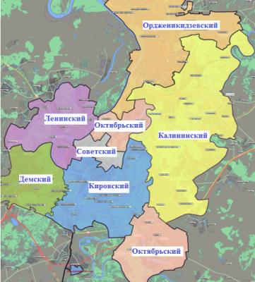 районы Уфы