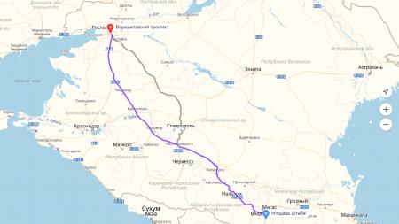 дорога от Ростова-на-Дону до Владикавказа