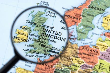 где находится Великобритания на карте