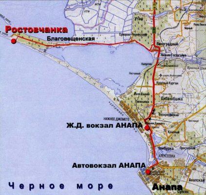 пляж от Анапы до станицы Благовещенской