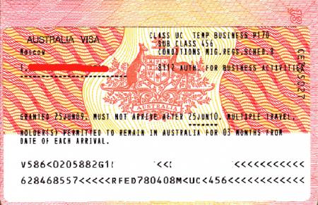 Бизнес виза в Австралию