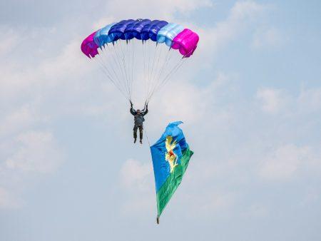 парашютисты на площадке Южного