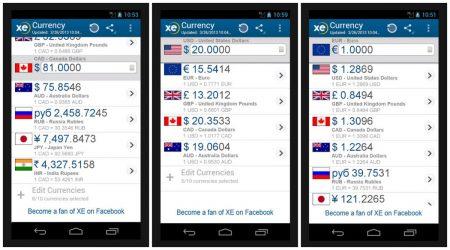 """Мобильное приложение """"XE Currency"""""""