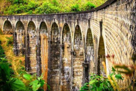 Мост Demodara в Элле, Шри-Ланка