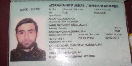 Образец паспорта гражданина Азербайджана