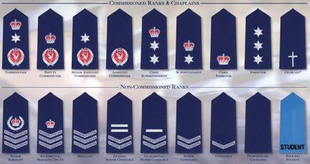 знаки различия полицейских в США
