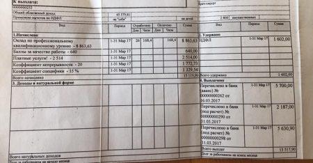 расчетный лист врача-хирурга в России
