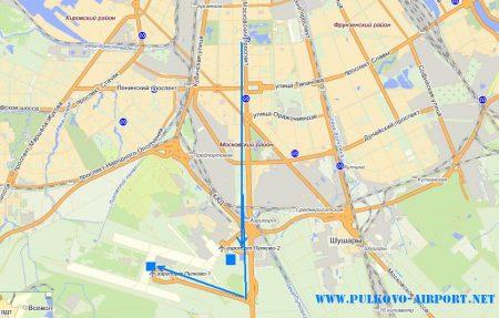 карта Пулково