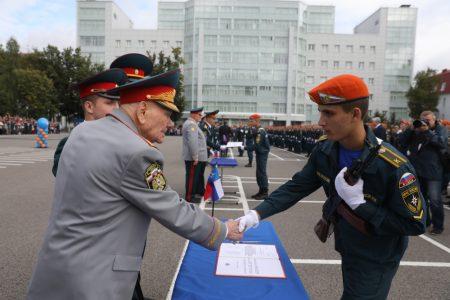 Принятие присяги в Академии гражданской защиты МЧС России