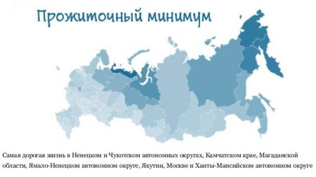 Прожиточный минимум в РФ