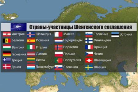 Список стран Шенгенского соглашения