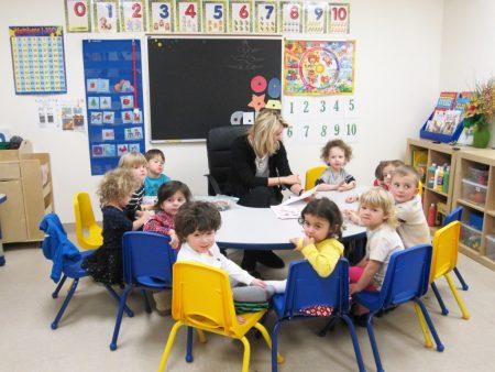 Занятия в детском саде в США