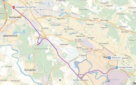 маршрут автобуса № 478