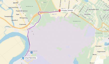 маршрут до остановки «Переезд»