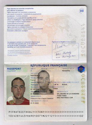 страницы паспорта Франции