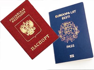 паспорт России и Эстонии