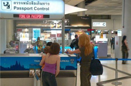 паспортный контроль в аэропорту Таиланда