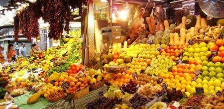 """Продуктовый рынок """"Ла Бокерия"""", Барселона"""